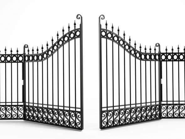 Ce type de portail est autorisé, car en fer forgé et surtout, ajouré.