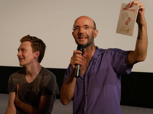Jimmy Kinirsky, qui a encadré et réalisé le Making-of avec les jeunes de la PJJ,, et Jean-Charles Sarrazin, l'auteur du livre